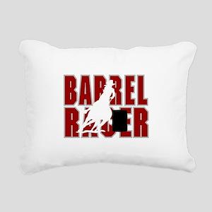 BARREL RACER [maroon] Rectangular Canvas Pillow